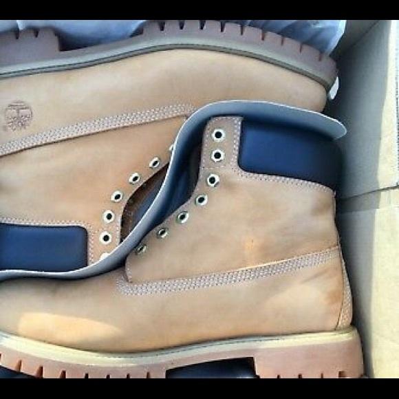 Timberland 6 Inch Premium Boots Wheat Nubuck 12